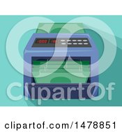 Clipart Of A Money Counting Machine Royalty Free Vector Illustration