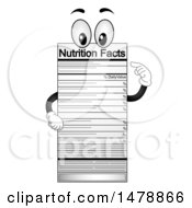Clipart Of A Nutrition Facts Label Mascot Royalty Free Vector Illustration by BNP Design Studio