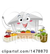 Clipart Of A Farmers Market Mascot With Produce Royalty Free Vector Illustration by BNP Design Studio