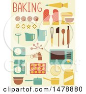 Flat Styled Baking Icons