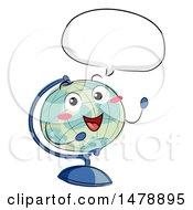 Poster, Art Print Of Desk Globe Mascot Talking