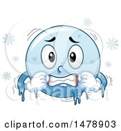 Cold Blue Smiley Face Emoji Freezing