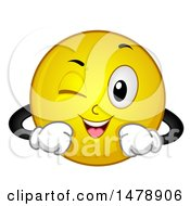 Poster, Art Print Of Yellow Smiley Face Emoji Winking