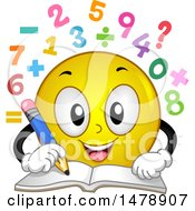 Poster, Art Print Of Yellow Smiley Face Emoji Solving Math Problems