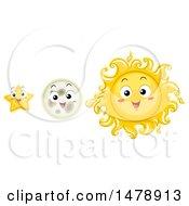 Happy Sun Moon And Star Mascots