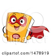 Clipart Of A Book Super Hero Mascot Royalty Free Vector Illustration