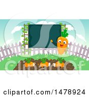 Clipart Of A Carrot Teacher With A Chalkboard And Students Royalty Free Vector Illustration