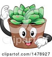 Clipart Of A Succulent Plant Mascot Royalty Free Vector Illustration