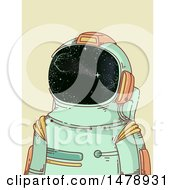 Sketched Astronaut In A Space Suit