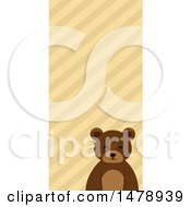 Bear Head Over A Striped Pattern