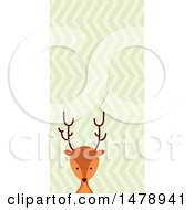 Clipart Of A Deer Head Over A Zig Zag Pattern Royalty Free Vector Illustration by BNP Design Studio