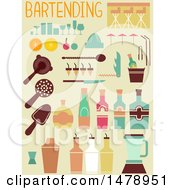 Flat Styled Bartending Icons