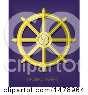 Clipart Of A Dharma Wheel Royalty Free Vector Illustration