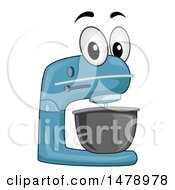 Clipart Of A Stand Mixer Mascot Royalty Free Vector Illustration by BNP Design Studio