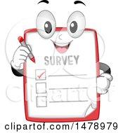 Survey Mascot Holding A Pen