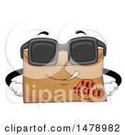 Clipart Of A Top Secret Envelope Mascot Wearing Sunglasses Royalty Free Vector Illustration by BNP Design Studio