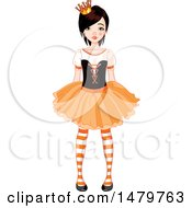 Clipart Of A Teen Girl In A Halloween Princess Costume Royalty Free Vector Illustration