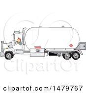 Trucker Driving A Propane Tanker