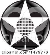 Clipart Of A Star Shaped Tennis Racket In A Black Circle Royalty Free Vector Illustration by Lal Perera