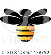 Clipart Of A Bee With Gradient Stripes Royalty Free Vector Illustration