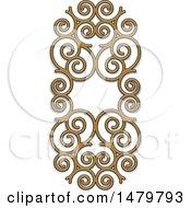 Poster, Art Print Of Spiral Frame Design Element
