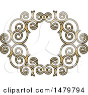 Clipart Of A Spiral Frame Design Element Royalty Free Vector Illustration by Lal Perera