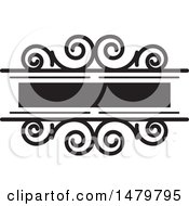 Clipart Of A Black And White Spiral Frame Design Element Royalty Free Vector Illustration by Lal Perera