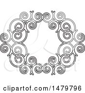 Black And White Spiral Frame Design Element