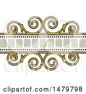 Clipart Of A Spiral And Film Strip Frame Design Element Royalty Free Vector Illustration by Lal Perera