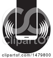 Black And White Smart Phone Icon