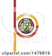 Clipart Of A Colorful Globe In Abstract Letters B And P Design Royalty Free Vector Illustration