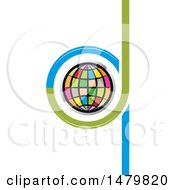 Clipart Of A Colorful Globe In Abstract Letters D And Q Design Royalty Free Vector Illustration