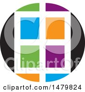Clipart Of A Colorful Window Design Royalty Free Vector Illustration by Lal Perera