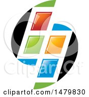 Clipart Of A Colorful Split Window Design Royalty Free Vector Illustration by Lal Perera