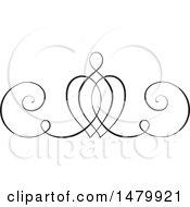 Poster, Art Print Of Vintage Calligraphic Heart Design Element