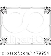 Clipart Of A Vintage Border Or Frame Royalty Free Vector Illustration by Frisko
