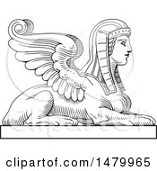 Clipart Of A Vintage Egyptian Sphinx Royalty Free Vector Illustration by Frisko