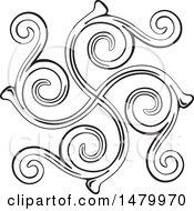 Vintage Spiral Design Element