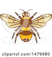 Clipart Of A Bumble Bee Royalty Free Vector Illustration