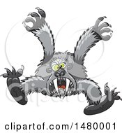 Clipart Of A Scary Gorilla Attacking Royalty Free Vector Illustration