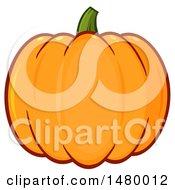 Clipart Of A Plump Pumpkin Royalty Free Vector Illustration