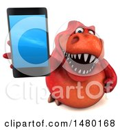 3d Red Tommy Tyrannosaurus Rex Dinosaur Mascot On A White Background