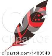 Clipart Of A Feather Royalty Free Vector Illustration by Cherie Reve