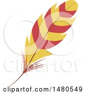 Clipart Of A Striped Feather Royalty Free Vector Illustration by Cherie Reve