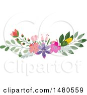 Floral Bouquet Border Design Element