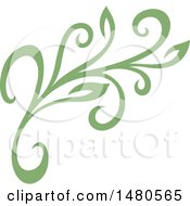 Green Floral Design Element