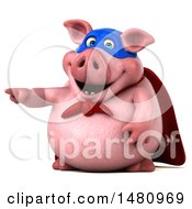 Clipart Of A 3d Super Chubby Pig On A White Background Royalty Free Illustration by Julos