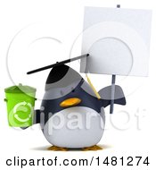 Poster, Art Print Of 3d Chubby Penguin Graduate On A White Background