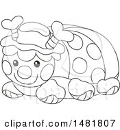 Cute Black And White Toy Ladybug