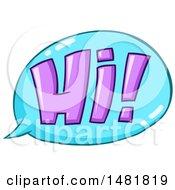 Purple Hi In A Blue Speech Bubble
